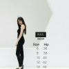 กางเกงสกินนี่เอวสูง BLACK TARAMIZU สีดำ #9855-01