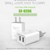 ที่ชาร์จไฟ USB 2 พอร์ต 2.1A+1A สำหรับ Tablet, iPad 4 ยี่ห้อ GOLF รุ่น GF-U206 (US Plug)
