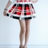 Modern Line Skirt - Red