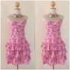 Lipsy Pink Floral Cotton Dress Size uk10