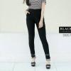 กางเกงสกินนี่เอวสูง BLACK TARAMIZU สีดำ #9857-01