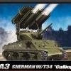 """AC13294 M4A3 SHERMAN W/T34 """"CALLIOPE"""" 1:35"""