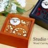 กล่องดนตรีไม้แกะสลัก Totoro