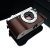 Gariz Leather Half-case for Lumix GX7: Brown