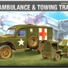 AC13403 WWII GROUND VEHICLE SET- 4 U.S. AMBULANCE & TOWING TRACTOR(1/72)