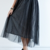 Silver Net Layered Skirt