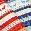 ผ้าสักหลาดเกาหลี พิมพ์ลาย Nordic size 2mm (Pre-order) ขนาด 42x30 cm มี 2 สี แดง น้ำเงิน