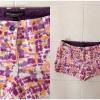 กางเกงขาสั้น ยี่ห้อ Topshop denim short Aztec/dye print ไชส์ uk 10