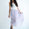 Maxi Pleat Dress - Lilac