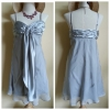 Lipsy Silver Evening Dress Size S