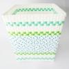 ตะกร้าผ้า คละสี ขนาดกลาง ( T-คละสี ) ทรงเหลี่ยม