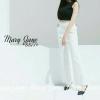 กางเกงขาบาน #8877-12 สีขาว