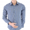 H&M Blue and White Checked Shirt Size M