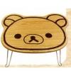 โต๊ะพับได้ Rilakkuma ลายไม้