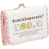 กระเป๋าสตางค์หนัง Sumikko Gurashi สีขาว-ชมพู