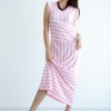 Sleek Strip Maxi Dress - Pink