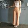 กางเกงขาบาน #8877-30 สีแซลมอน