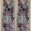 YUMI Roses Floral Maxi Dress