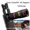 เลนส์ซูมสำหรับiPhone,Samsung,HTC,iPadมือถือทุกรุ่น8เท่า- TeleScope Lens8X
