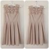 Lipsy Cream Cutout Dress Size uk12
