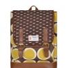 กระเป๋าเป้ยี่ห้อ Super Lover สไตล์เกาหลีใต้ ลายไข่วงกลมสีเหลือง มีช่องใส่โน้ตบุ๊ค (Preorder)