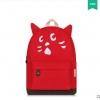 กระเป๋าเป้ยี่ห้อ Super Lover สาวญี่ปุ่นฮัน Xiaoqing ผ้าใบสีแดงน้องแมว (Preorder)