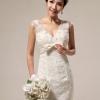 ชุดแต่งงาน ผ้าลูกไม้ สีขาว ประดับคริสตัล