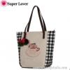 กระเป๋าเป้ยี่ห้อ Super Lover กระเป๋าสะพายญี่ปุ่นป่าลายกระต่ายในแก้ว (Preorder)