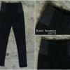กางเกงสกินนี่เอวสูง BLACK TARAMIZU สีดำ #9997-01