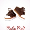 Brown Double Tongue Canvas Sneakers