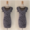 Lipsy Grey Leopard print dress Size uk10