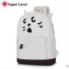 กระเป๋าเป้ยี่ห้อ Super Lover Orecchiette เกาหลีการ์ตูนสไตล์กระเป๋าเป้สะพายหลังน่ารัก (Preorder) ใบเล็กสีขาว