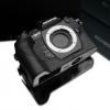 Gariz Leather Half-case for Olympus E-M1: Black