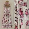 Miss selffridge Floral Flower Rose Holiday summer Dress Size uk10