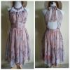 Lipsy Butterfly Silk Peach Dress Size uk10