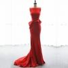 (เช่าชุดราตรี) ชุดราตรี <แขนกุด สีแดง> รหัสสินค้า EK_VIPEVL0842
