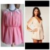 Lipsy Split Sleeve Playsuit Size uk10