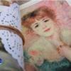 ผ้าสักหลาดเกาหลี ลายภาพวาด pelteuji size 1mm (Pre-order) ขนาด 45x30 cm