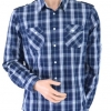 ASOS CHECKED SHIRT BLUE SIZE L