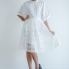 Mirror Dress's Organza Chest Skirt - White