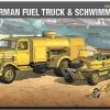 AC13401 WWII GROUND VEHICLE SET-3 GERMAN FUEL TRUCK & SCHWIMM WAGEN(1/72)