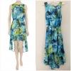 Dorothy Perkins Blue Dip Hem Dress Size uk10