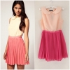 Topshop Rare Two Tone Chiffon Pleat Dress Size uk12
