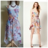 Warehouse Barearic print Dress Size uk8-10