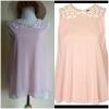 Topshop Pink Top Size Uk8-Uk10