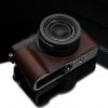 Gariz Leather Half-case for Lumix LX100 : Brown