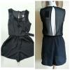 Miss Selfridge Black Chiffon Playsuit Size uk8