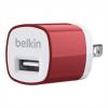 หัวชาร์จบ้าน belkin 1.0 แอมป์ (สีแดง)