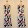 Topshop Laura Lees Embroidered Floral Dress size Uk 8- uk10