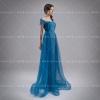 (เช่าชุดราตรี) ชุดราตรี <สีฟ้า> รหัสสินค้า EK_VIPEVL0836